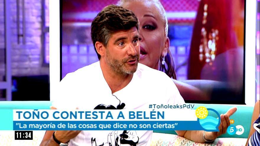 """Toño Sanchís presume de ganar en audiencia a Belén Esteban: """"Está devaluada"""""""