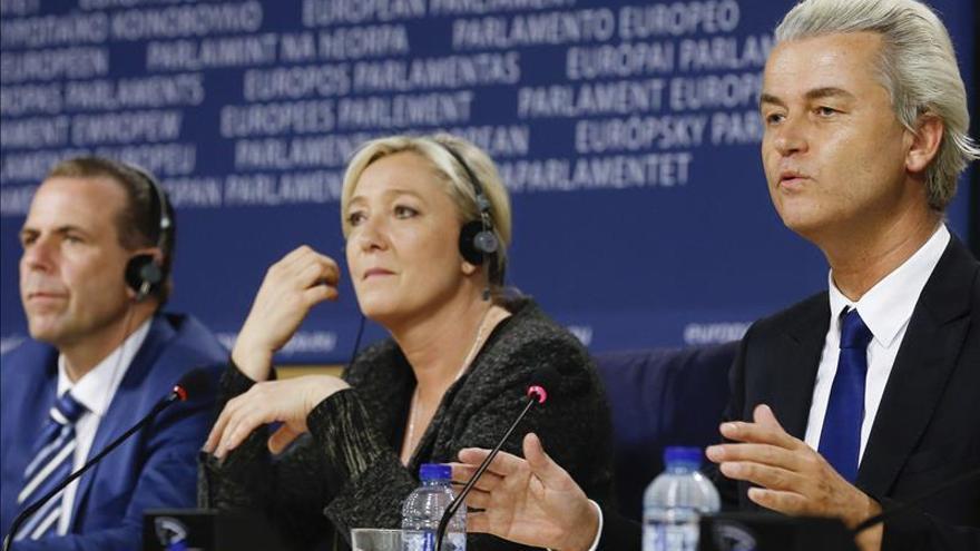 Marine Le Pen, del Frente Nacional francés y Geert Wilders, del Partido para la Libertad de Holanda, también de extrema derecha