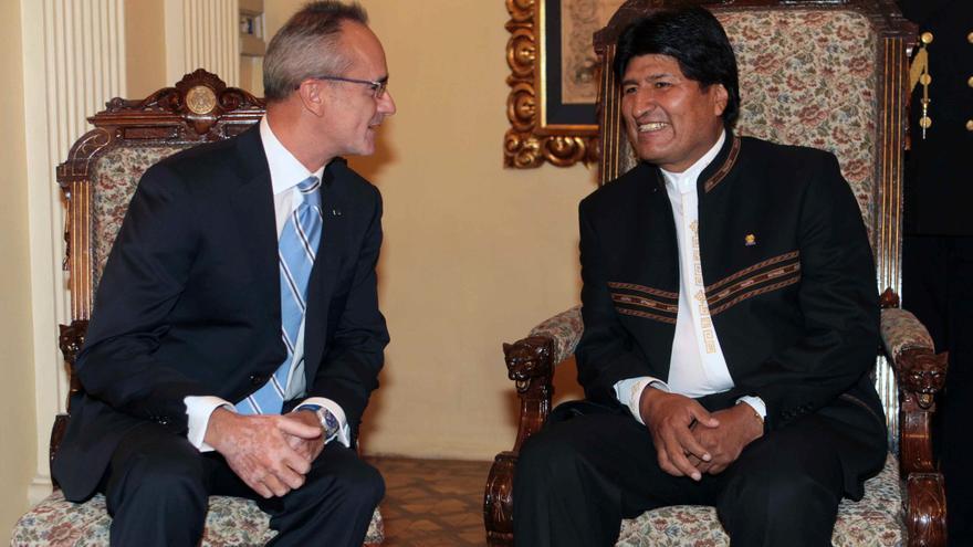 El nuevo embajador de España en Bolivia presenta sus cartas credenciales a Morales