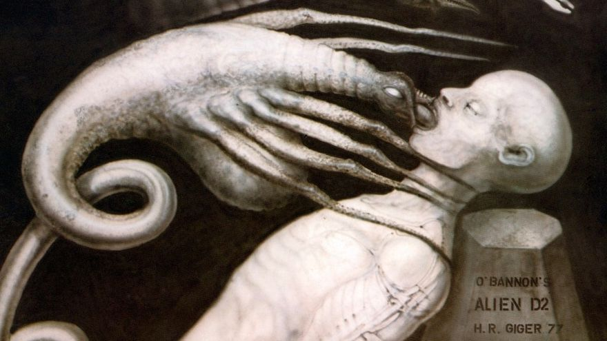 Bocetos de Giger para Alien