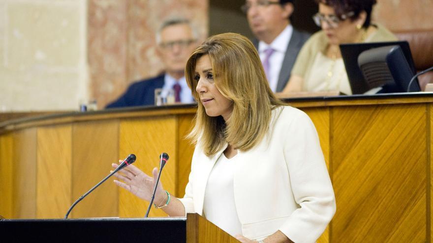 Susana Díaz en el Debate del Estado de la Comunidad de octubre de 2016.