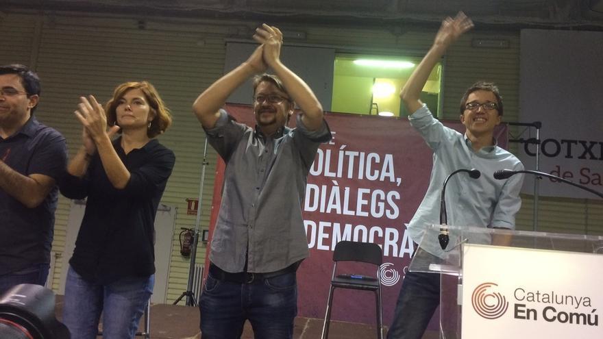 """Domènech dice a Rajoy que """"perderá Cataluña y España"""" si quiere imponerse el 1-O"""