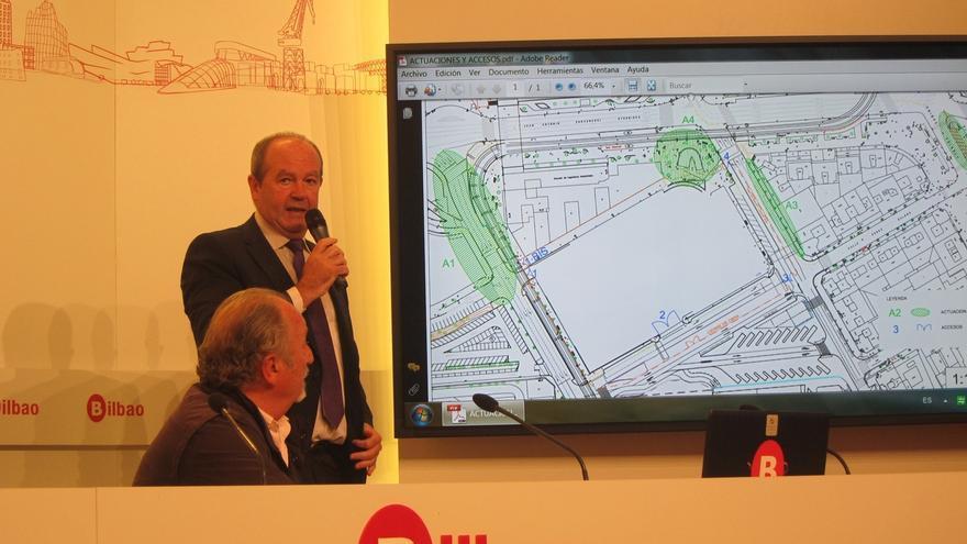 Los camiones de las obras de la Intermodal de Bilbao entrarán y saldrán por la calle Gurtubay dentro tres meses