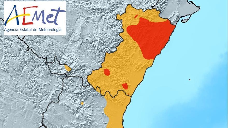 Toda la provincia de Castelló registró lluvias superiores a los 100 litros/m2