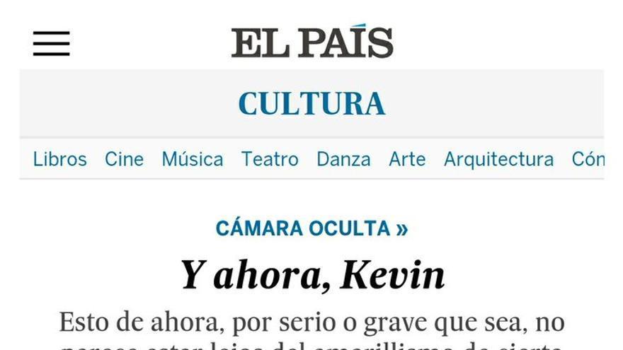 Captura de pantalla de la columna de Diego Galán en El País
