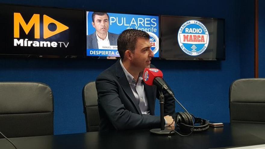 Manuel Domínguez, durante la entrevista en Radio Marca Tenerife