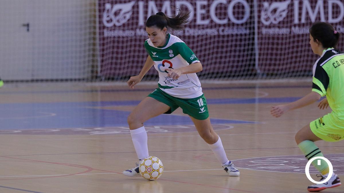 Celi Calderón durante un encuentro con el Deportivo Córdoba