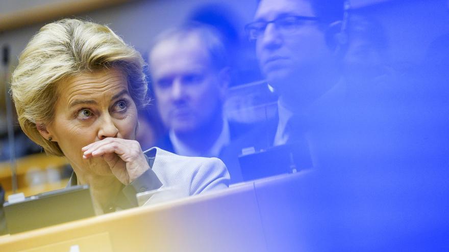La presidenta de la Comisión Europea, Ursula Von der Leyen, en el pleno sobre el Pacto Verde Europeo del 11 de diciembre de 2019.