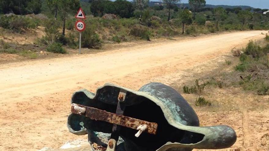 Estatua de lince ibérico en Doñana
