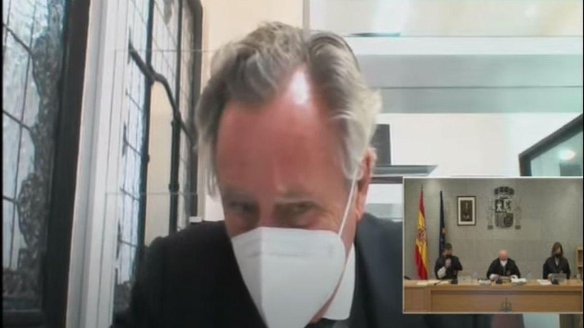 El empresario López del Hierro durante su declaración en el juicio de la caja B el pasado abril