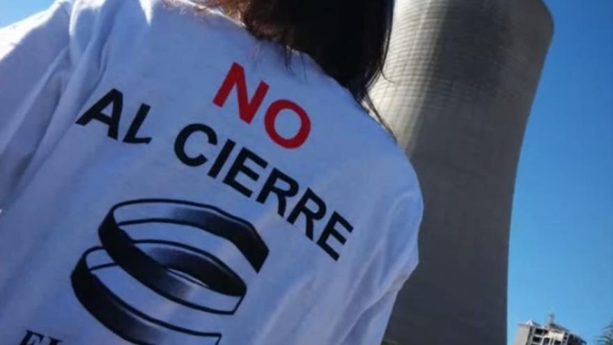 Captura del vídeo 'No al cierre de Elcogas'