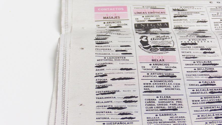 Anuncios de prostitución de un periódico generalista
