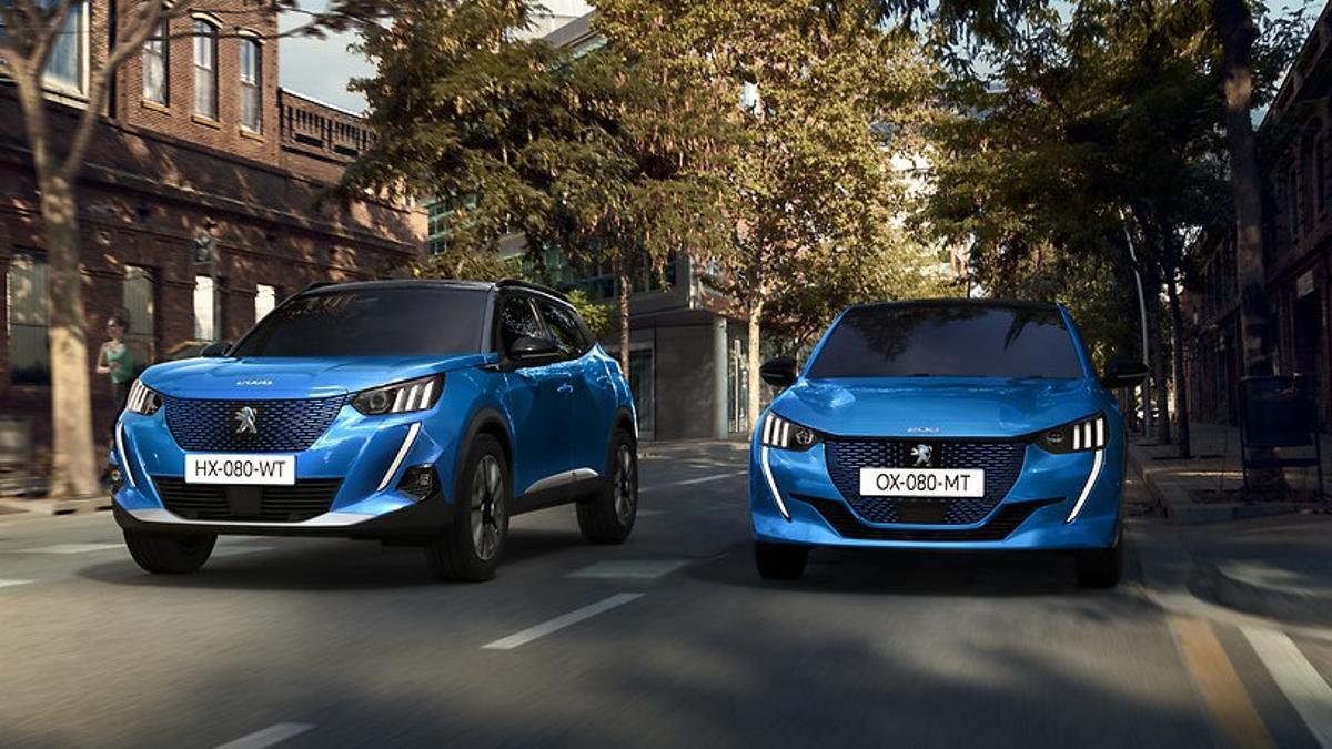Versiones eléctricas de los Peugeot 208 y 2008.