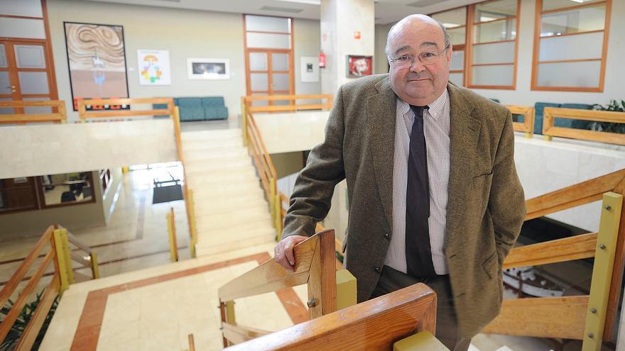 José Carlos Gómez Sal, rector de la Universidad de Cantabria.   Joaquín Gómez Sastre