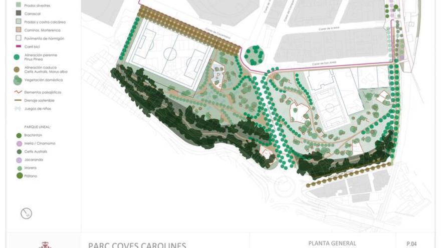 Plano del futuro parque de Carolines