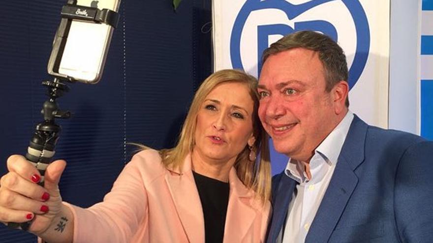 Cristina Cifuentes y Juan Soler. Fuente: Partido Popular