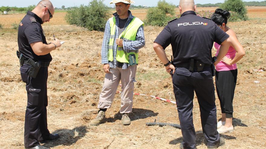 Actuación de la Policía Nacional ante el hallazgo de restos óseos en Coria.