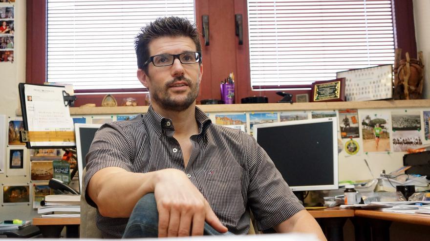 David Padrón, retratado en su despacho de la ULL