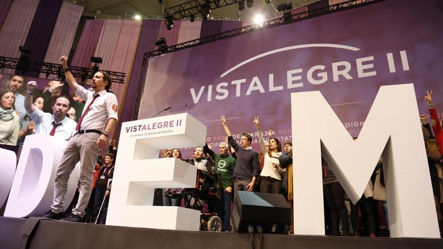Pablo Iglesias y el nuevo Consejo Ciudadano Estatal de Podemos, en Vistalegre 2.