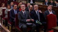 El banquillo de los acusados en el juicio del procés