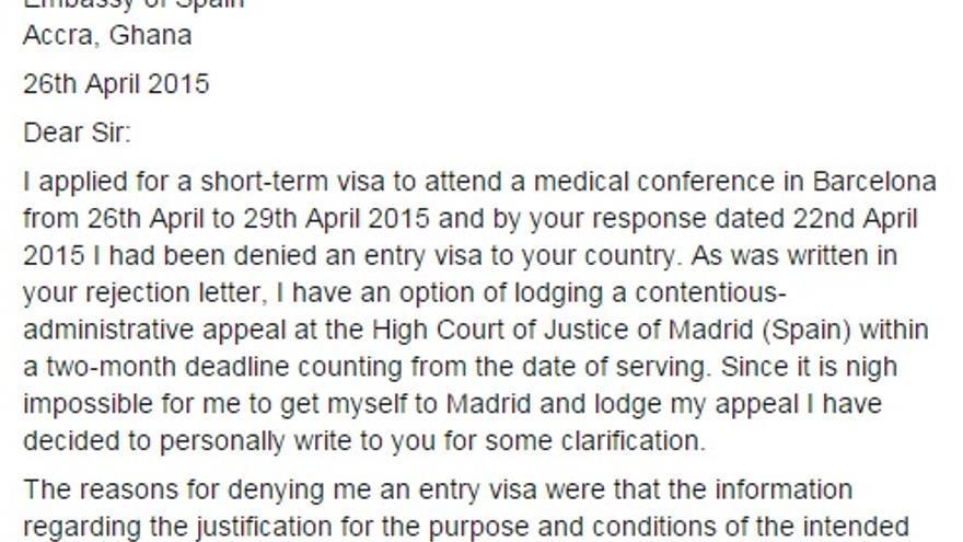 visado para entrar a espana: