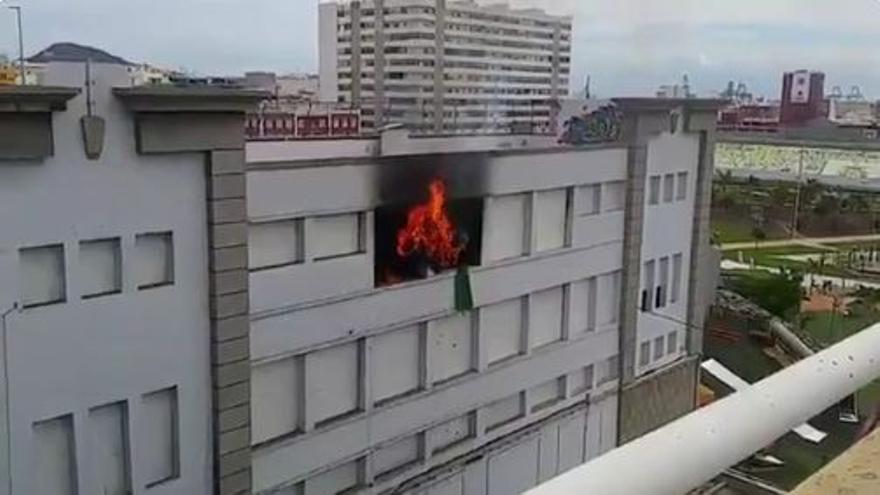 Incendio en el Estadio Insular