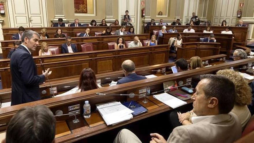 Pleno del Parlamento de Canarias, en una imagen de archivo