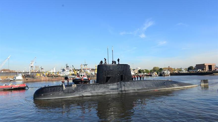 Fotografía facilitada en noviembre de 2017 por la Armada Argentina del submarino ARA San Juan