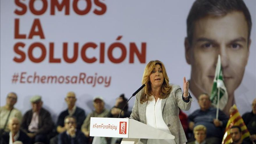 Susana Díaz: El PSOE es el cambio seguro, sin saltos al vacío ni pasos atrás