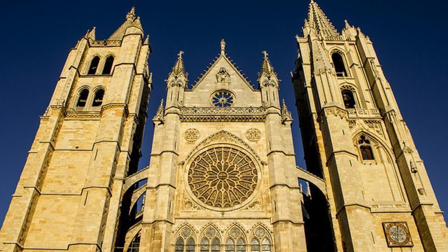 Fachada de la Catedral de León.