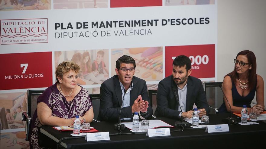Mercedes Berenguer, Jorge Rodríguez, Vicent Marzà i Maria Josep Amigó, duran la presentació