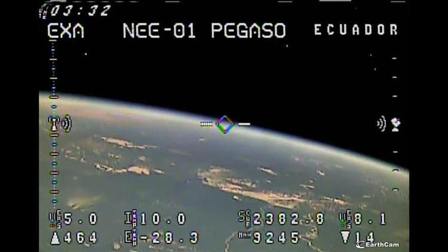 Imagen enviada por el satélite ecuatoriano. (Foto: EFE)