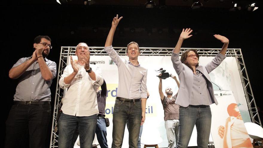 Mónica Oltra, Joan Baldoví, Ignasi Candela e Íñigo Errejón