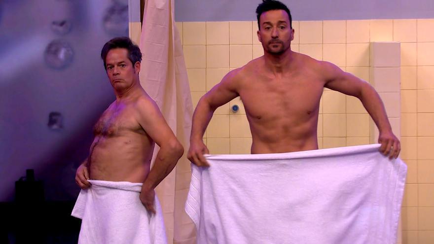 El baile de Pablo Puyol y Jorge Sanz desnudos que hizo llorar a Roberto Leal en 'El Desafío'