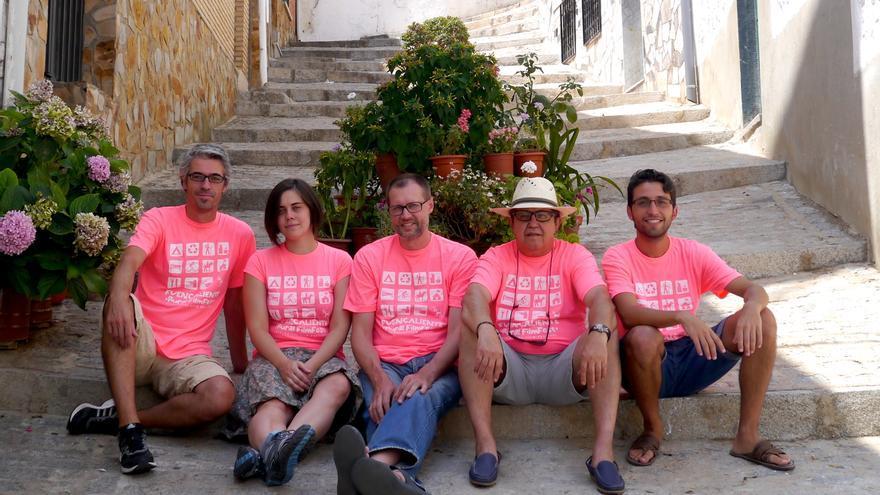Organizadores del festival de cine de Fuencaliente.