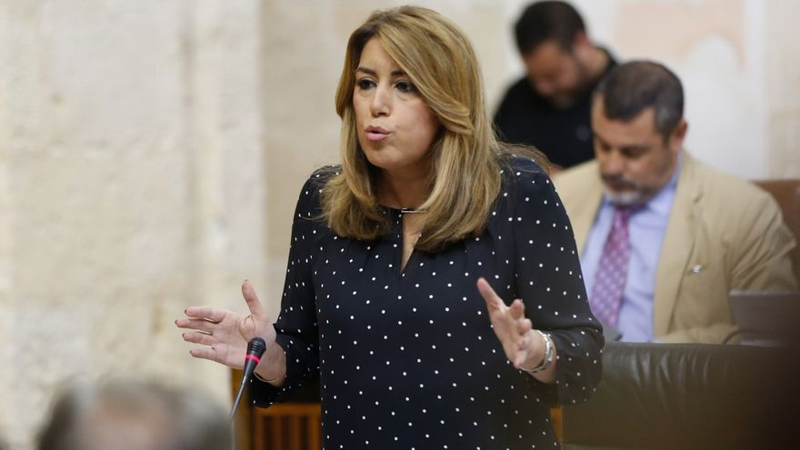 """Susana Díaz a Moreno: """"Yo he hecho lo que tiene que hacer un presidente"""" y Rajoy """"ni debate ni presenta"""" los PGE"""
