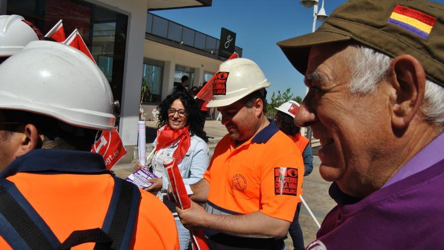 Los mineros de Aguablanca, en la protesta / JCD
