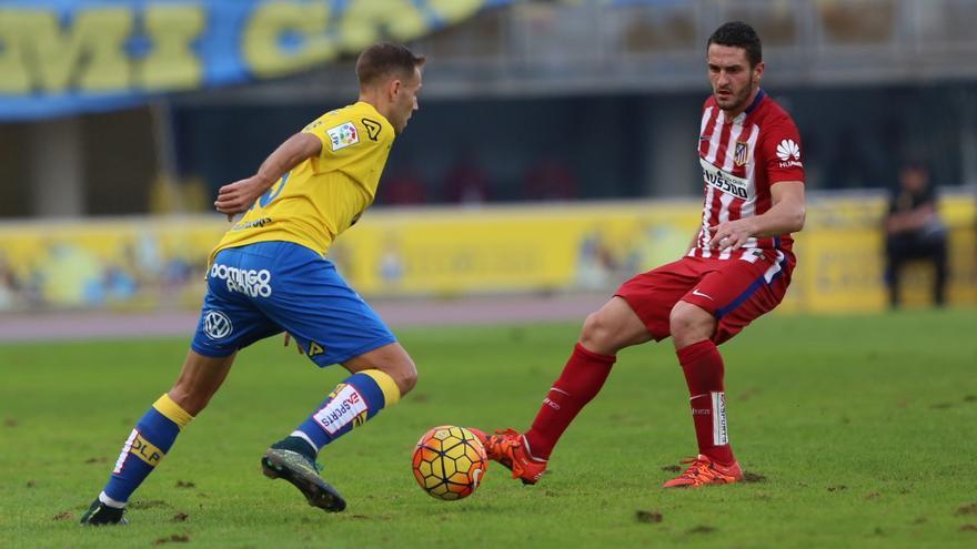 Partido entre la UD Las Palmas y Atlético de Madrid en el Estadio de Gran Canaria.