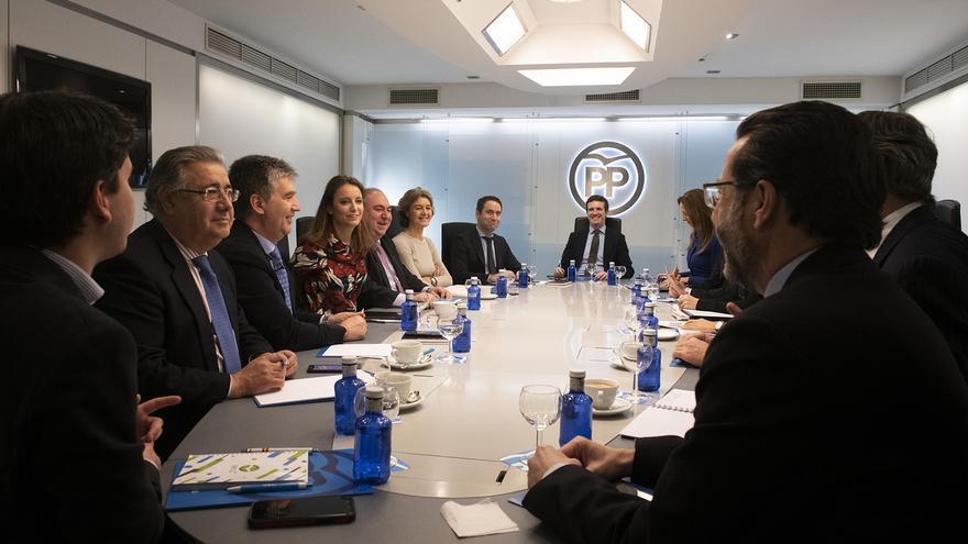 Reunión del Comité de Dirección del PP, este lunes, en Génova.