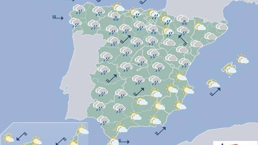 Mañana, viento fuerte en Galicia, cordillera cantábrica y Navarra