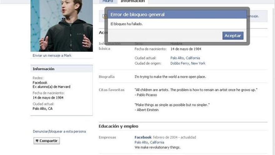 Página de Facebook de Mark Zuckerberg. (EUROPA PRESS)