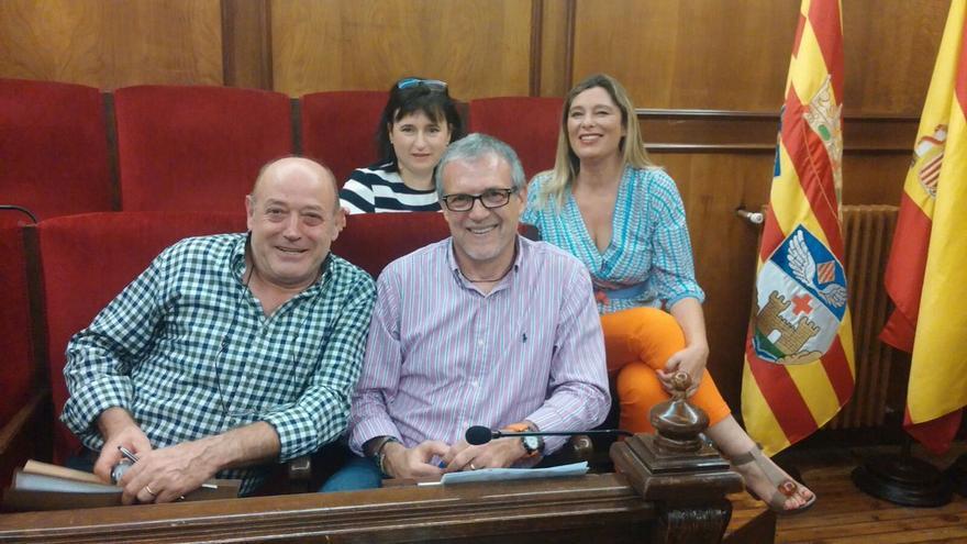 Jorge Sedano, portavoz de Ciudadanos en Alcoi, con el resto de concejales