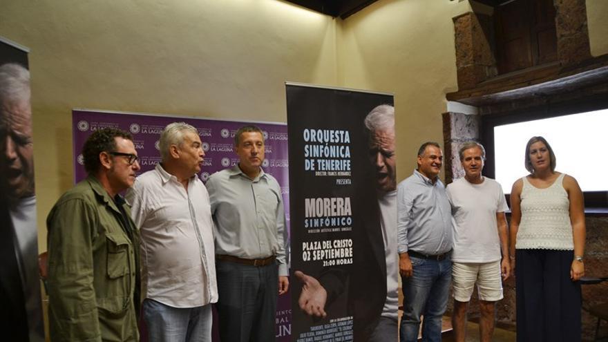 Presentación del espectáculo 'Morera Sinfónico' en el Ayuntamiento de La Laguna