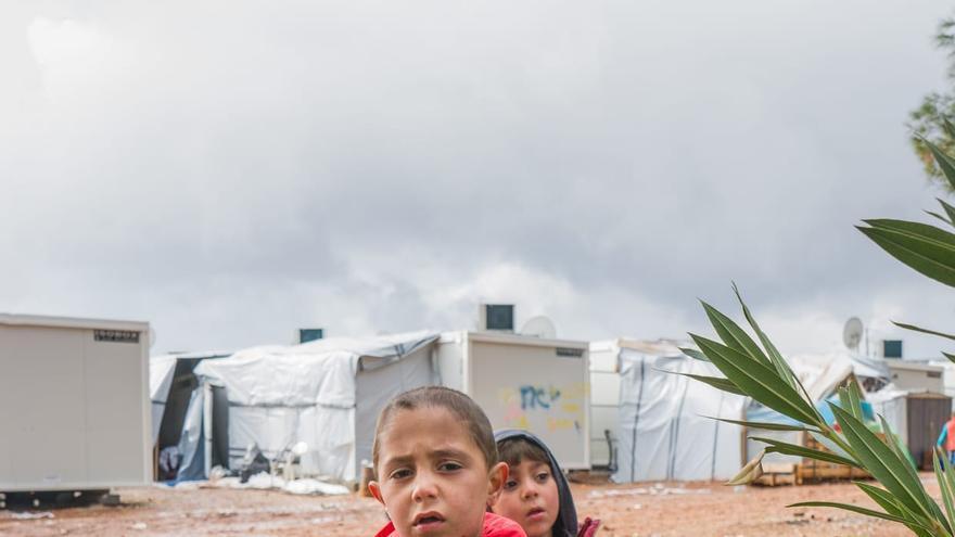 Niño en el campo de refugiado de Moria, Lesbos/ PALOMA COMUÑAS