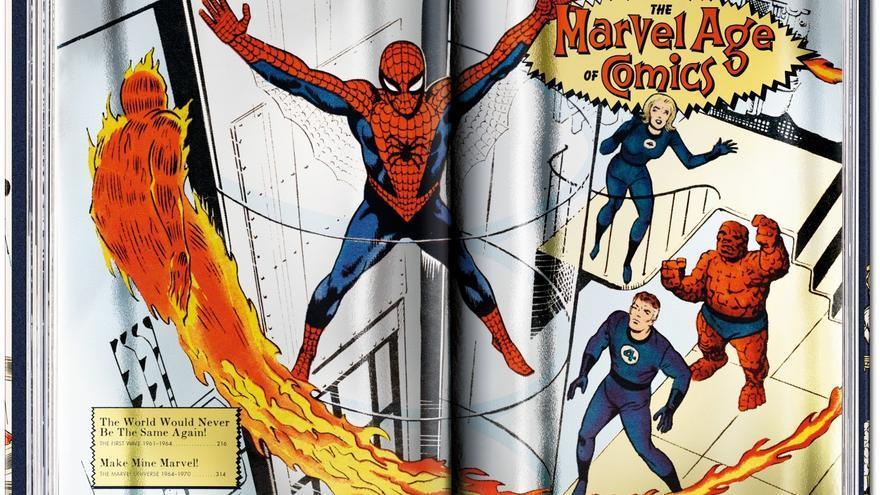 Diseño también utilizado para la portada de 'La era Marvel 1961-1978'