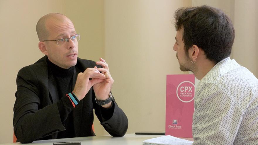 Tal Eisner durante la entrevista con eldiario.es