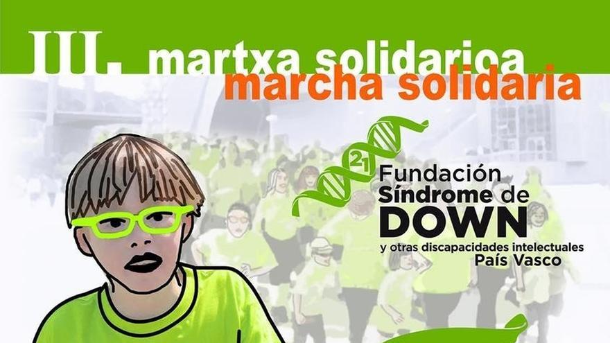 La Fundación Síndrome de Down del País Vasco celebrará el 2 de octubre su tercera marcha solidaria en Bilbao