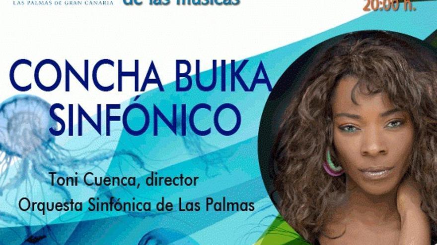 Concha Buika ofrecerá este domingo su concierto sinfónico en el Auditorio Alfredo Kraus