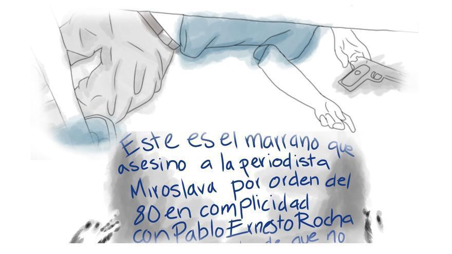 A Gabriel Ochoa Cárdenas lo asesinaron el 17 de abril; el director de la policía del Estado, Óscar Aparicio, afirmó que el crimen fue cometido con la misma arma con la que asesinaron a Miroslava.