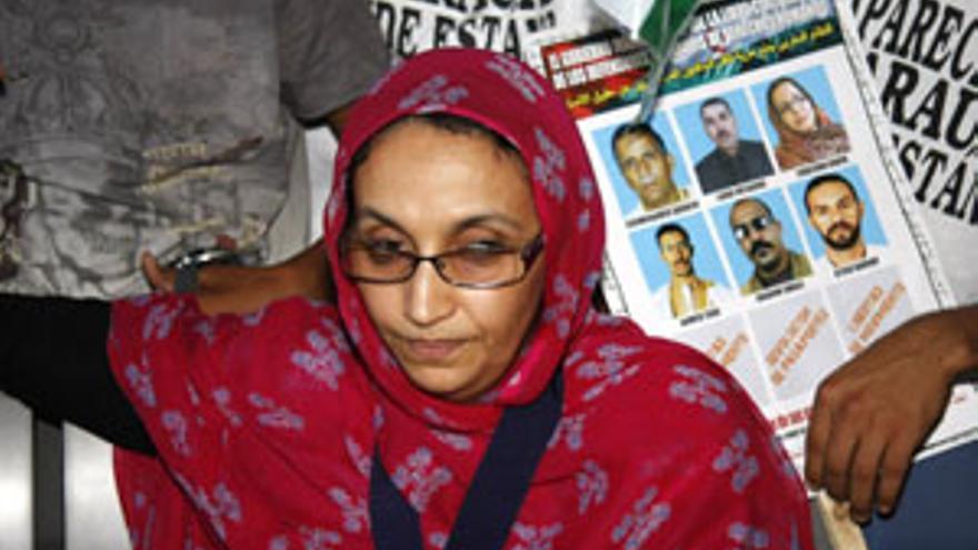 La activista saharaui Aminatu Haida. (CANARIAS AHORA)